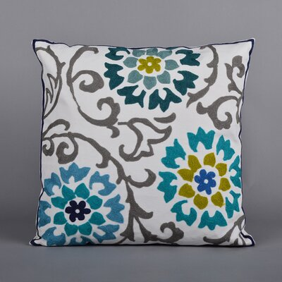 Charlene Embroidered Throw Pillow