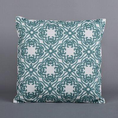 Ella Embroidered Throw Pillow Color: Aqua Teal