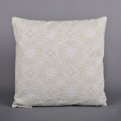 Ella Embroidered Throw Pillow Color: Cream