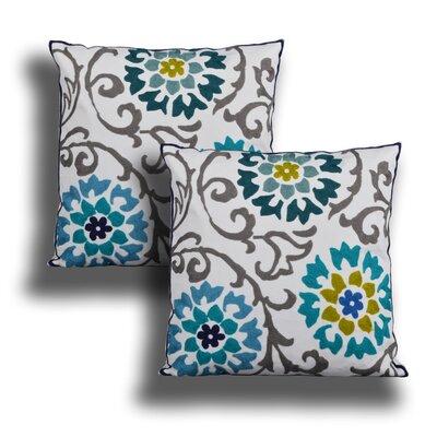 Modern Living Charlene Embroidered Throw Pillow