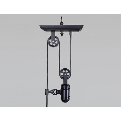 Tammera Iron Single Pulley 1-Light Mini Pendant