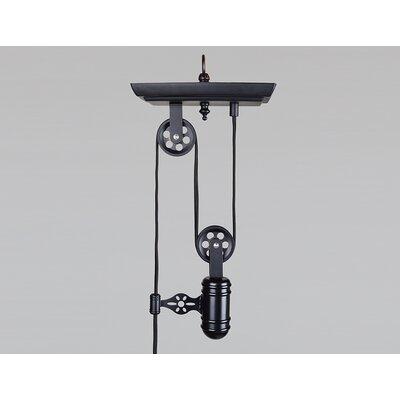 Tammera Iron Single Pulley 1-Light Mini Pendant