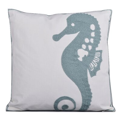 Elliott 100% Cotton Throw Pillow Color: Aqua