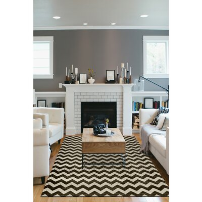 Hand Woven Black/White Indoor/Outdoor Area Rug