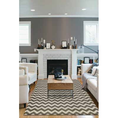 Hand Woven Gray/White Indoor/Outdoor Area Rug