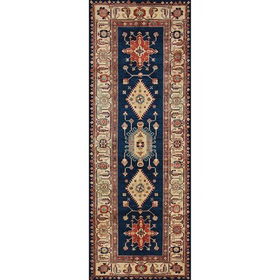 Noor Sapphire Indoor/Outdoor Area Rug Rug Size: Runner 2.5 x 7