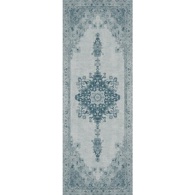 Parisa Blue Indoor/Outdoor Area Rug Rug Size: Runner 26 x 7