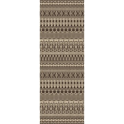 Cadiz Espresso Indoor/Outdoor Area Rug Rug Size: Runner 26 x 7