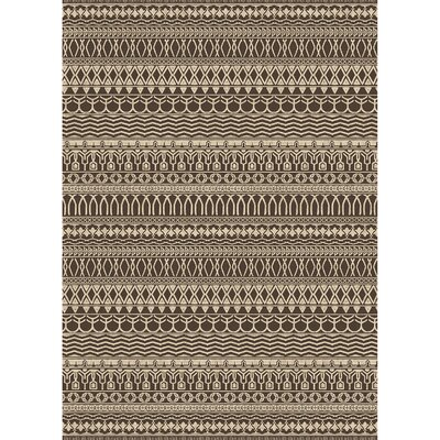 Cadiz Espresso Indoor/Outdoor Area Rug Rug Size: 5 x 7