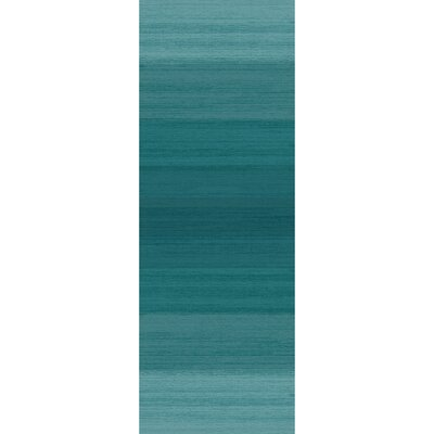 Ombre Blue Indoor/Outdoor Area Rug Rug Size: Runner 2'6