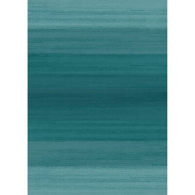 Ombre Blue Indoor/Outdoor Area Rug Rug Size: 5 x 7