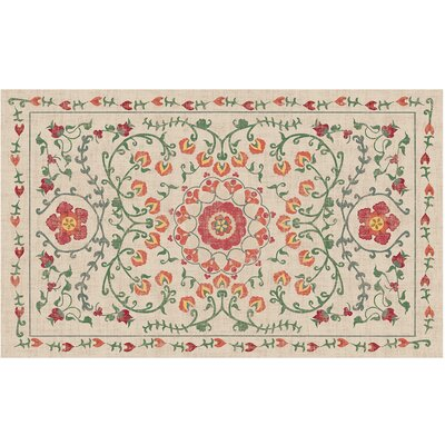 Suzi Coral Indoor/Outdoor Area Rug Rug Size: 3 x 5