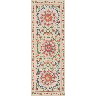 Suzi Coral Indoor/Outdoor Area Rug Rug Size: Runner 2.5 x 7