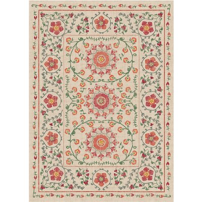 Suzi Coral Indoor/Outdoor Area Rug Rug Size: 5 x 7