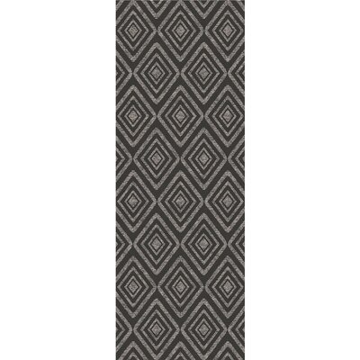 Black Indoor/Outdoor Area Rug Rug Size: Runner 2'6