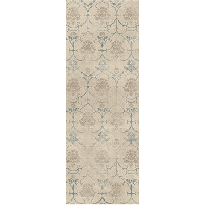 Leyla Creme Indoor/Outdoor Area Rug Rug Size: Runner 26 x 7