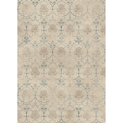 Leyla Creme Indoor/Outdoor Area Rug Rug Size: 5 x 7