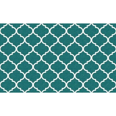 Nev Teal Indoor/Outdoor Accent Rug Rug Size: 3 x 5