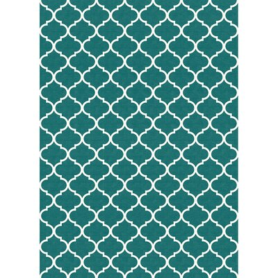 Teal Indoor/Outdoor Accent Rug Rug Size: 5' x 7'