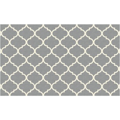 Gordon Trellis Light Gray Indoor/Outdoor Area Rug Rug Size: 3 x 5