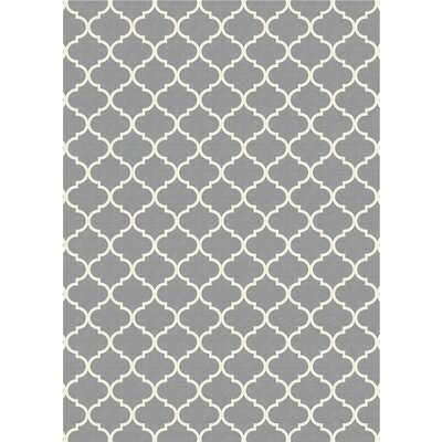 Moroccan Light Gray Indoor/Outdoor Area Rug Rug Size: 5 x 7