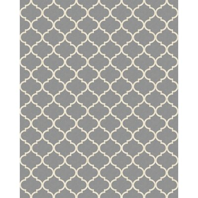 Moroccan Light Gray Indoor/Outdoor Area Rug Rug Size: 8 x 10