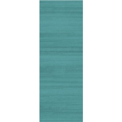 Text Ocean Blue Indoor/Outdoor Area Rug