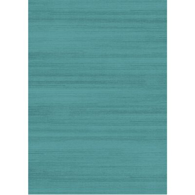 Solid Text Ocean Blue Indoor/Outdoor Area Rug Rug Size: 5 x 7