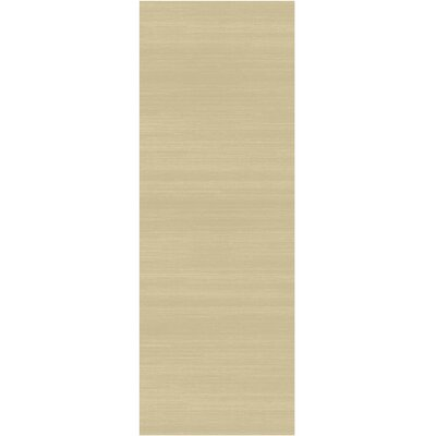 Solid Text Creme Indoor/Outdoor Area Rug Rug Size: Runner 26 x 7