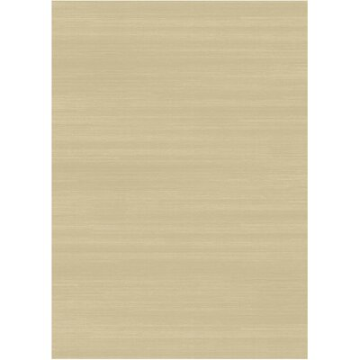 Solid Text Creme Indoor/Outdoor Area Rug Rug Size: 5 x 7