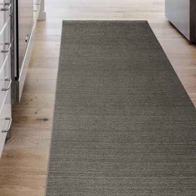Hand Woven Rich Gray Indoor/Outdoor Area Rug Rug Size: Runner 25 x 7