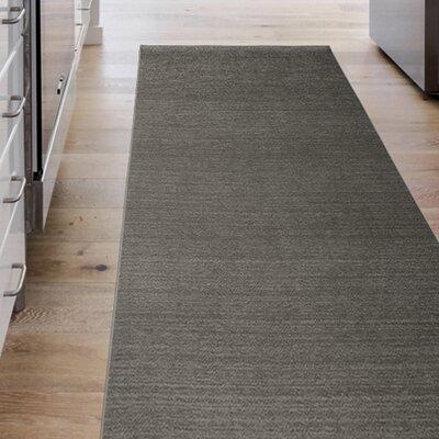 Hand Woven Rich Gray Indoor/Outdoor Area Rug Rug Size: Runner 25 x 7