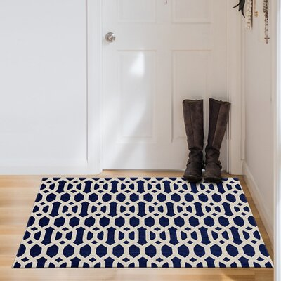 Blue/White Indoor/Outdoor Area Rug