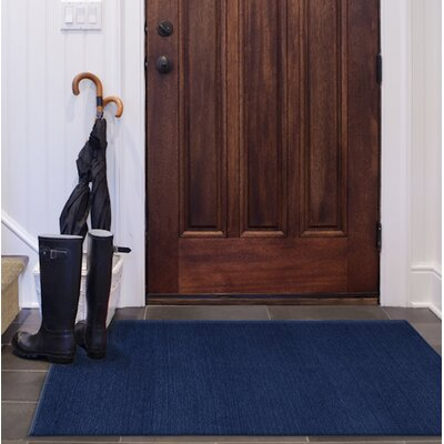 Navy Blue Indoor/Outdoor Area Rug Rug Size: Rectangle 5 x 7
