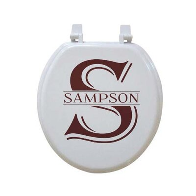 Personalized Monogrammed Custom Round Toilet Seat