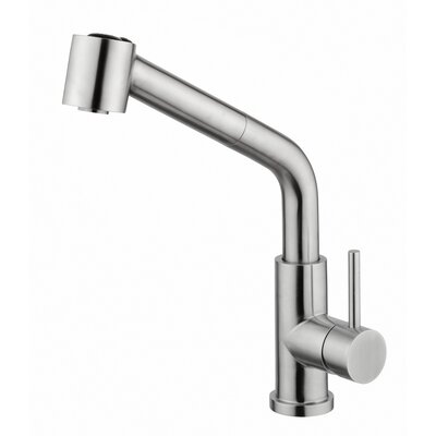 Single Handle Surface Mount Kitchen Faucet With ABS Pull Out Handset