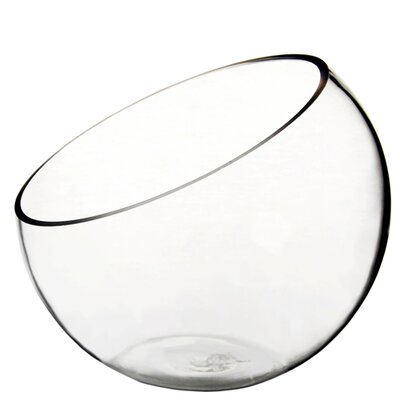 "Half Cut Slant Bowl Size: 7"" H x 8"" W x 8"" D GCU063"