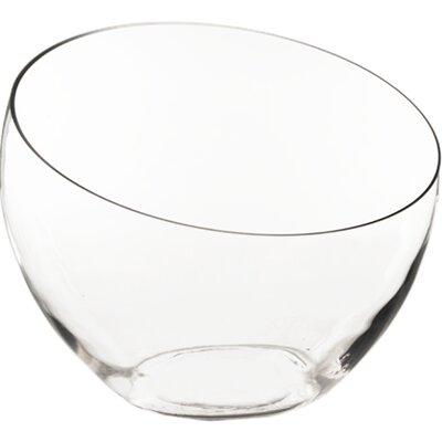 Slant Cut Decorative Bowl Size: 12 H x 13 W x 13 D