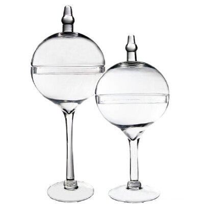 Glass Candy Buffet 2 Piece Apothecary Jar Set