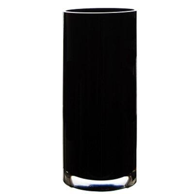 Hand Blown Glass Cylinder Vase GCY107BK-4P