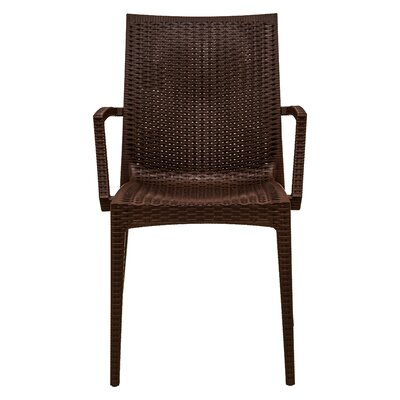 Mace Upholstered Dining Chair Finish: Brown