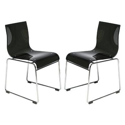 Lima Side Chair Finish: Transparent Black