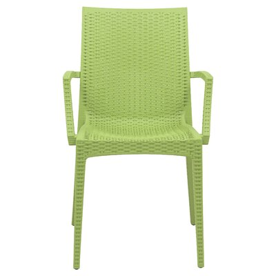 Mace Upholstered Dining Chair Finish: Green