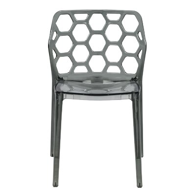 Dynamic Side Chair Finish: Transparent Black