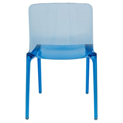 Maryln Side Chair Finish: Transparent Blue