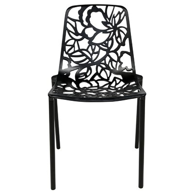 Devon Side Chair Finish: Black
