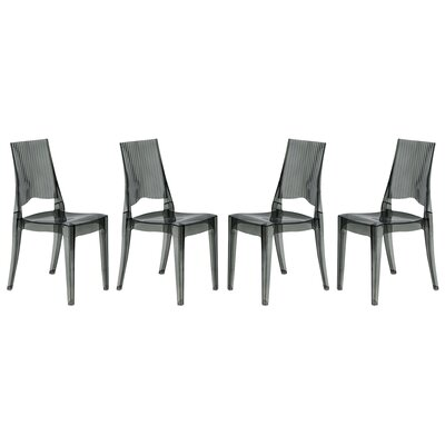 Coral Side Chair Finish: Transparent Black