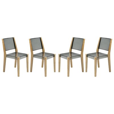 Barker Dining Chair Finish: Transparent Black
