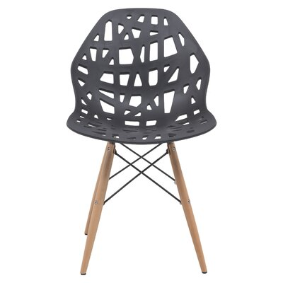Akron Solid Wood Dining Chair Finish: Black