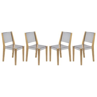 Barker Dining Chair Finish: Transparent Clear